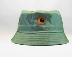 панама купить Carhartt зеленая кожаный логотип