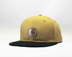 кепка Snapback Carhartt коричневая с кожаным логотипом