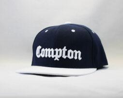 кепка Snapback Compton New Era Синяя с белым